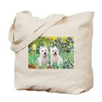 CUSTOM-Irises - 2 Westies Tote Bag