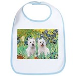 CUSTOM-Irises - 2 Westies Bib
