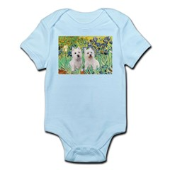 CUSTOM-Irises - 2 Westies Infant Bodysuit