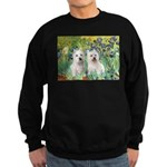 CUSTOM-Irises - 2 Westies Sweatshirt (dark)