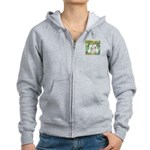 CUSTOM-Irises - 2 Westies Women's Zip Hoodie