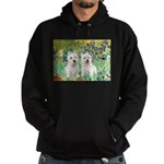 CUSTOM-Irises - 2 Westies Hoodie (dark)