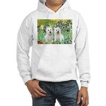 CUSTOM-Irises - 2 Westies Hooded Sweatshirt