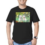 CUSTOM-Irises - 2 Westies Men's Fitted T-Shirt (da