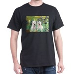 CUSTOM-Irises - 2 Westies Dark T-Shirt