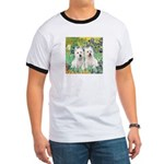 CUSTOM-Irises - 2 Westies Ringer T