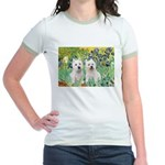 CUSTOM-Irises - 2 Westies Jr. Ringer T-Shirt