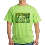 CUSTOM-Irises - 2 Westies Green T-Shirt
