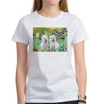 CUSTOM-Irises - 2 Westies Women's T-Shirt