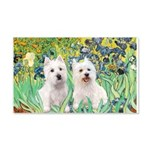 CUSTOM-Irises - 2 Westies 22x14 Wall Peel