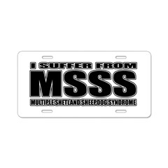 Shetland Sheepdog Aluminum License Plate