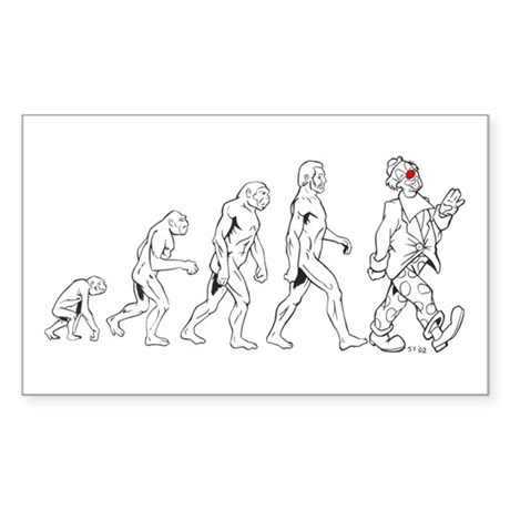 Clown Evolution Sticker (Rectangle)
