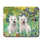 Irises-Westies 3and11 Mousepad