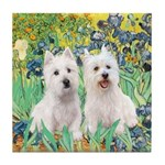 Irises-Westies 3and11 Tile Coaster
