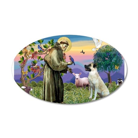 SAINT FRANCIS/Anatolian 20x12 Oval Wall Decal