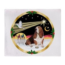 XmasDove/Basset Hound Throw Blanket