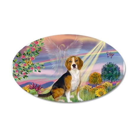 CloudAngel-Beagle 20x12 Oval Wall Decal