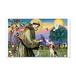 Saint Francis / Beagle 20x12 Wall Decal
