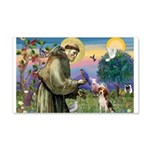 Saint Francis / Beagle 20x12 Wall Decal