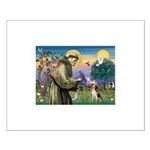 Saint Francis / Beagle Small Poster
