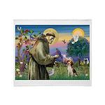 Saint Francis / Beagle Throw Blanket