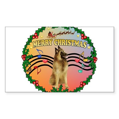 XmasMusic2/Tervuren Sticker (Rectangle)