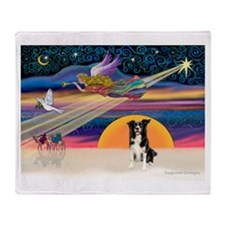 XmasStar/Border Collie 1 Throw Blanket