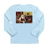 Santa's Border Collie Long Sleeve Infant T-Shirt