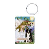 Angel & Border Collie Keychains
