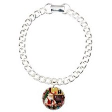 Santa's Boston Terrier Bracelet