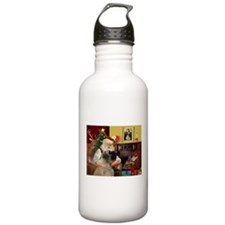 Santa's Bullmastiff #7 Water Bottle