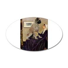 Mom's Bull Mastiff 22x14 Oval Wall Peel