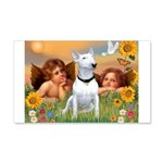 Cherubs / Bull Terrier 22x14 Wall Peel