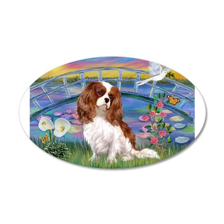 Sunrise / Blenheim Cavalier 20x12 Oval Wall Decal