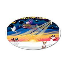 XmasSunrise/Chihuahua #1 22x14 Oval Wall Peel