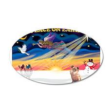 XmasSunrise/Chihuahua#6 22x14 Oval Wall Peel