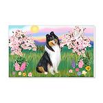 Blossoms / Collie (tri) 22x14 Wall Peel
