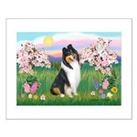 Blossoms / Collie (tri) Small Poster