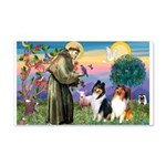 St Francis / Collie Pair 22x14 Wall Peel