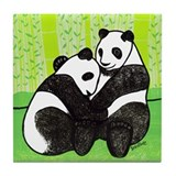 Panda Love Tile Coaster