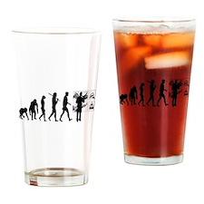 Advertising Evolution Drinking Glass