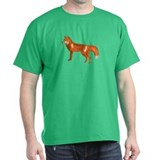 Red Fox Black T-Shirt