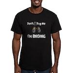 Don't Bug Me, I'm Birding Men's Fitted T-Shirt (da