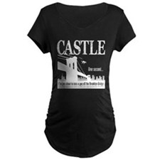 Castle Bridge Toss Maternity Dark T-Shirt
