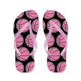 Basketball Girls Pink Flip Flops