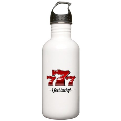 """I Feel Lucky"" Stainless Water Bottle 1.0L"