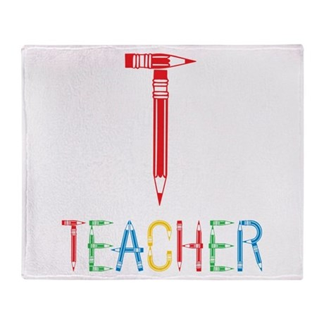 Pencils Teacher Throw Blanket