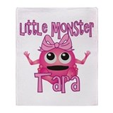 Little Monster Tara Throw Blanket
