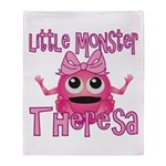 Little Monster Theresa Throw Blanket