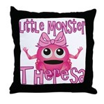 Little Monster Theresa Throw Pillow